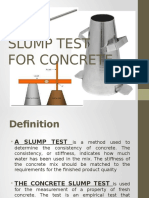 Slump Test for Concrete
