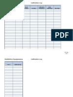 CF-001, Calibration Log
