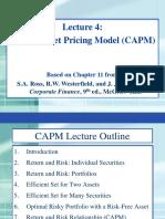 FinMath Lecture 4 CAPM