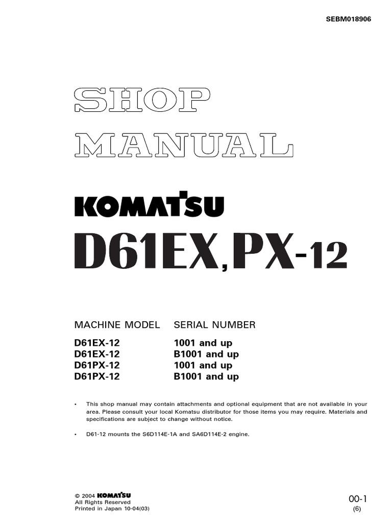 D61EX-12 SHOP pdf | Rope | Troubleshooting