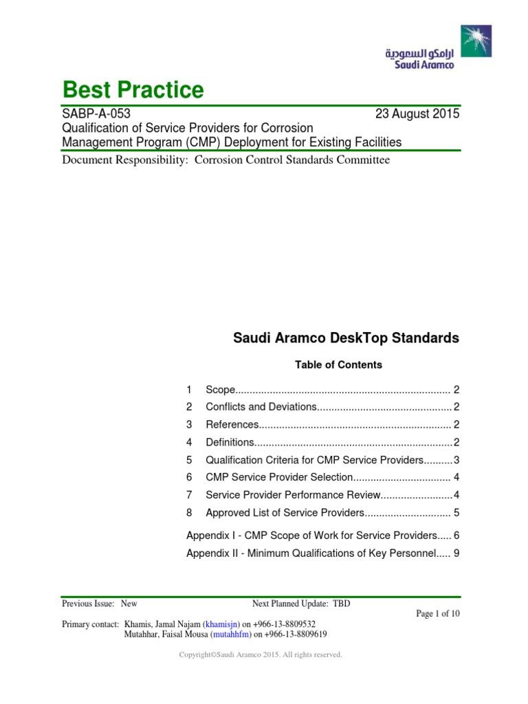 SABP-A-053 pdf | Corrosion | Engineering