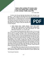 Phong Trào Cần Vương ở Thanh Hoá Và Thái Độ Của Nhân Dân Thanh Hoá Đối Với Vương Triều Nguyễn - Vũ Quý Thu