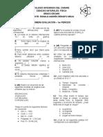 Evaluación sobre conversión de unidades