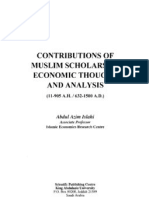 Muslim Scholars and Economic Thought & Analysis