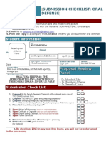 FO 02 CHECKLIST Oral Defense 2013new