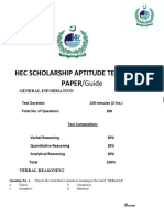 HAT Guide for HEC Indigenous Scholarship