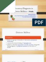 Laboratory Diagnosis in Diabetes Mellitus Pitfalls