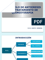 Protocolo de Antiemesis en Los Tratamientos de Quimioterapia