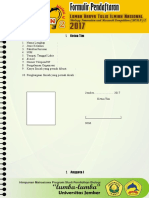 Formulir Pendaftaran LKTIN BORN 2