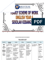 Yearly Scheme of Work Year 6 Prepared by Siti Rohayati - For Merge