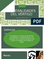 Generalidades Del Vértigo
