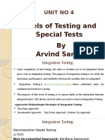 Level of Testing and Special Tests