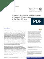 Diagnostico, tratamiento y prevención de la toxoplasmosis congénita en USA