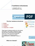 4 Sentence Structures
