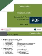 Peoplesoft Financials Implementation