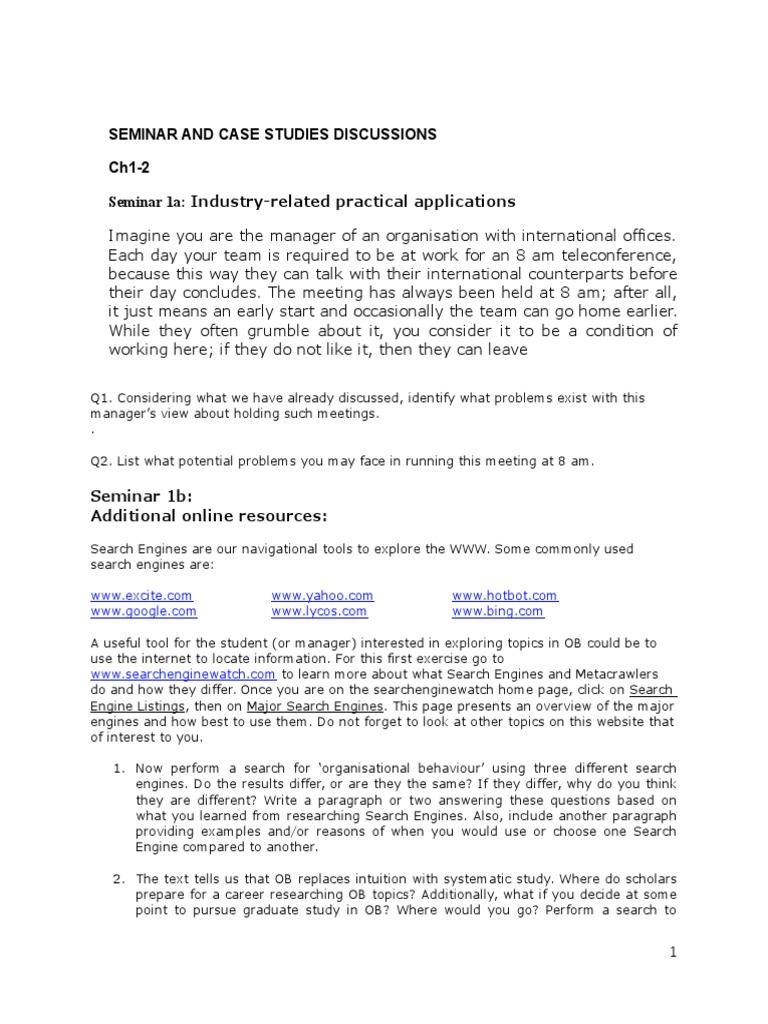 Organisational behaviour phd research proposal