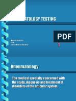Rheumatology Testing
