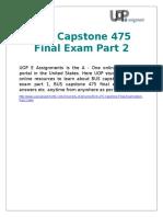 BUS Capstone 475 Final Examination Part 2