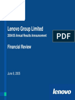 Lenovo Intergration Plan Annual 2004 Presentation