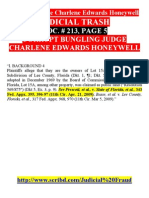 2 Pp JUDICIAL TRASH Crooked Judge Charlene E Honeywell