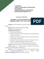 Regulament- Festivalul Concurs de Oua Incondeiate - 25 Martie 2017( Editia a IV-a)
