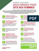 Ce que nous ferons pour les droits des femmes