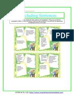 Restating Topic Sentences
