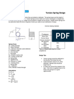 Torsion Spring Design Info