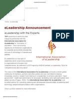 ELeadership Announcement