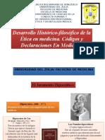 3-Desarrollo Histórico-Filosófico de La Ética en Medicina. Códigos & Declaraciones en Medicina