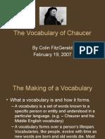 Chaucer s Vocab