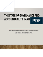 State of Governance and Accountability  in Africa