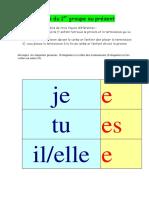 Conjugaison Ce1 - Present 1er Groupe