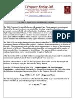 The TRL Dynamic Cone Penetrometer Test