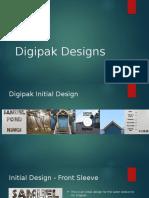 Digipak Design Development