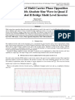 Optimization of Multi Carrier Phase Opposition Disposition with Absolute Sine Wave in Quasi Z Source Cascaded H Bridge Multi Level Inverter