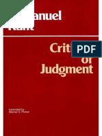 Kant Immanuel Critique of Judgment 1987.PDF