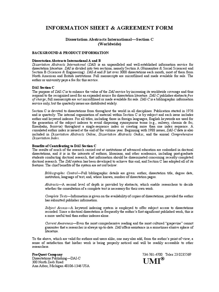 dai dissertation abstracts international