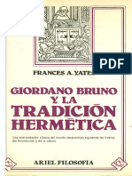 Yates Frances - Giordano Bruno