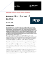 Ammunition-The Fuel of Conflict