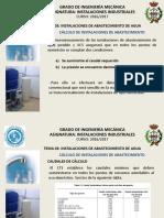 Guía cálculo de abastecimiento agua en España