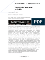 Lotro Unofficial Champion Strategy Guide