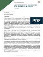 Instructivo Otorgamiento Concesiones Mineras Minerales Metálicos 2016