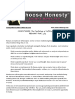 Honest Liars Manuscript