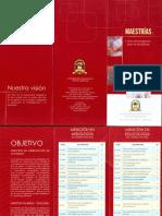 Brochur Maestria en Misiones y Educologia Enero 2015