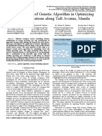An Application of Genetic Algorithm in Optimizing Jeepney Operations Along Taft Avenue, Manila