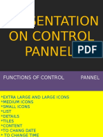 PRESENTATION ON CONTROL PANNEL.pptx