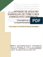 Jesus No Evangelho de Tomé - Comunicação