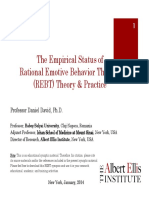 The Empirical Status of Rational Emotive Behavior Theory and Therapy