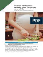 6 Cosas (Comunes) de Belleza Que Las Mujeres Embarazadas Deben EVITAR Para Evitar Defectos en El Bebé